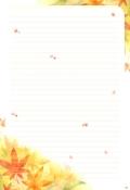 가을편지지_편지봉투(단풍잎) 미리보기