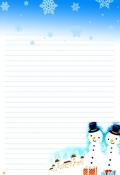 겨울편지지(눈사람) 미리보기
