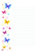 봄편지지_편지봉투(나비) 미리보기