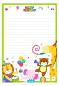 생일편지지_편지봉투(파티하는동물... 미리보기
