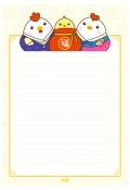 설날편지지_새해편지지(복주머니와닭) 미리보기